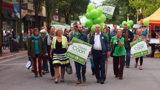 David Coon & Liz May on Queen St.