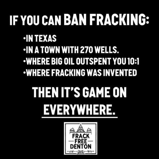 Frack Free  Denton TX